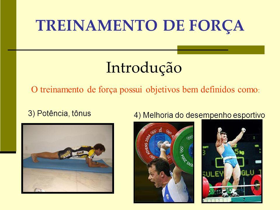 TREINAMENTO DE FORÇA Introdução BOM PLANEJAMENTO BOA PLANIFICAÇÃO ANAMNESE AVALIAÇÕES TESTES FíSICOS EXAME MÉDICO