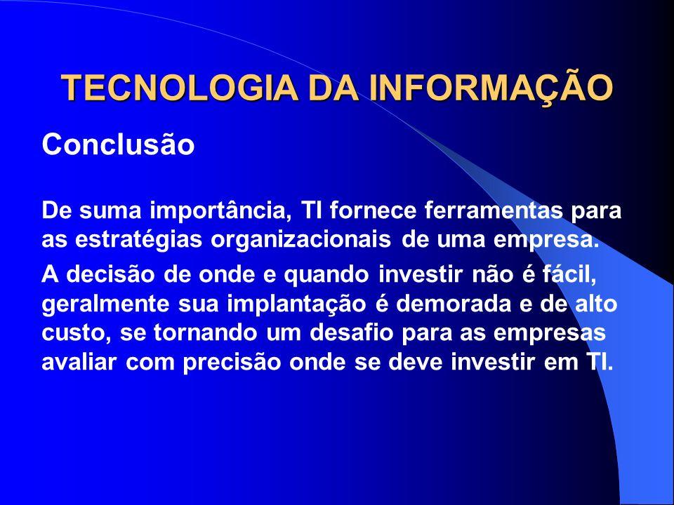 TECNOLOGIA DA INFORMAÇÃO Michel Ribeiro540-9 Roger Zanardi599-5 Tânia N.