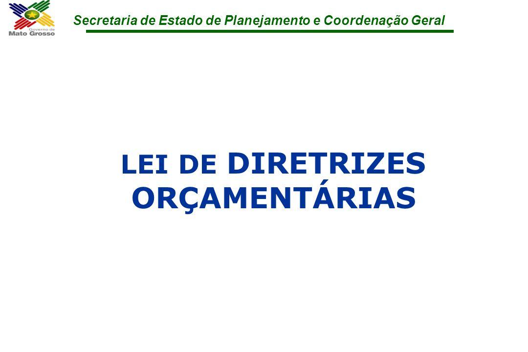 Secretaria de Estado de Planejamento e Coordenação Geral LEI DE DIRETRIZES ORÇAMENTÁRIAS