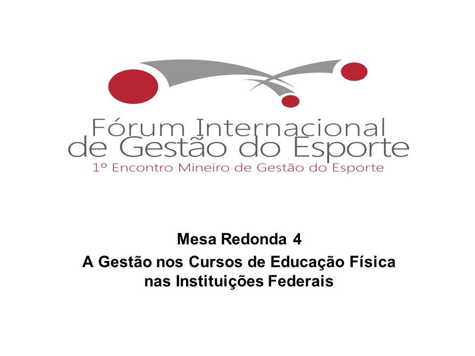 Mesa Redonda 4 A Gestão nos Cursos de Educação Física nas Instituições Federais