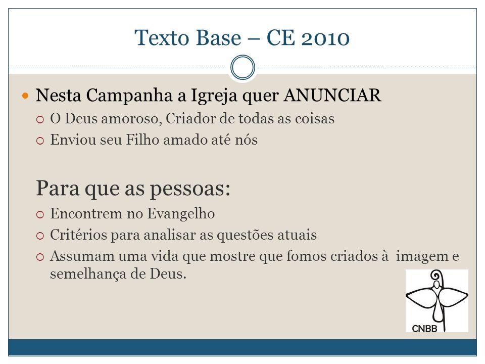 Texto Base – CE 2010 E a nossa missão.