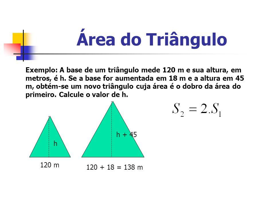 Área do Losango Ligando paralelamente os vértices do losango, podemos formar um retângulo.