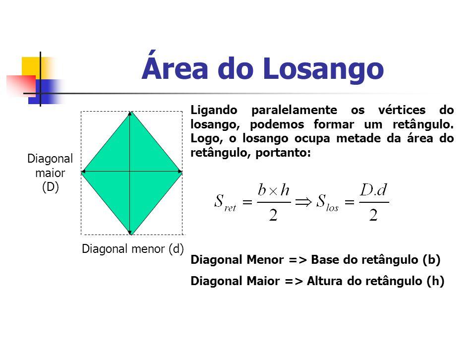 Área do Losango Determine a área do losango: 15 m 42 m