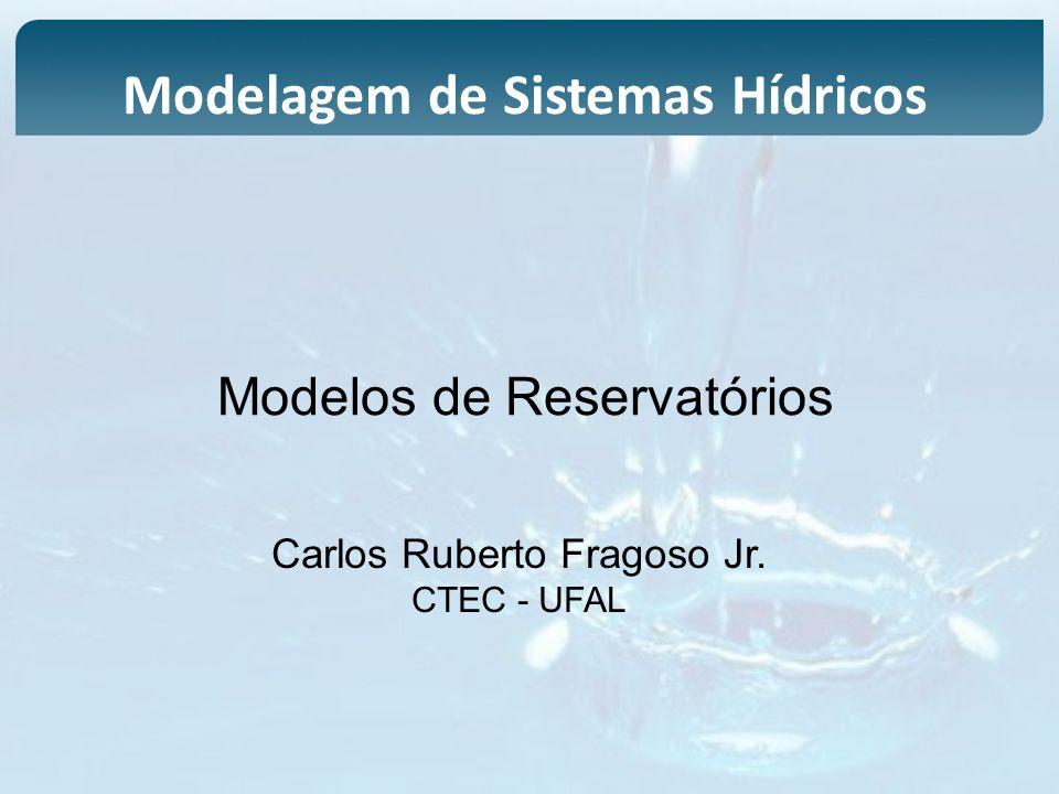 Modelos de Reservatórios Carlos Ruberto Fragoso Jr. CTEC - UFAL Modelagem de Sistemas Hídricos