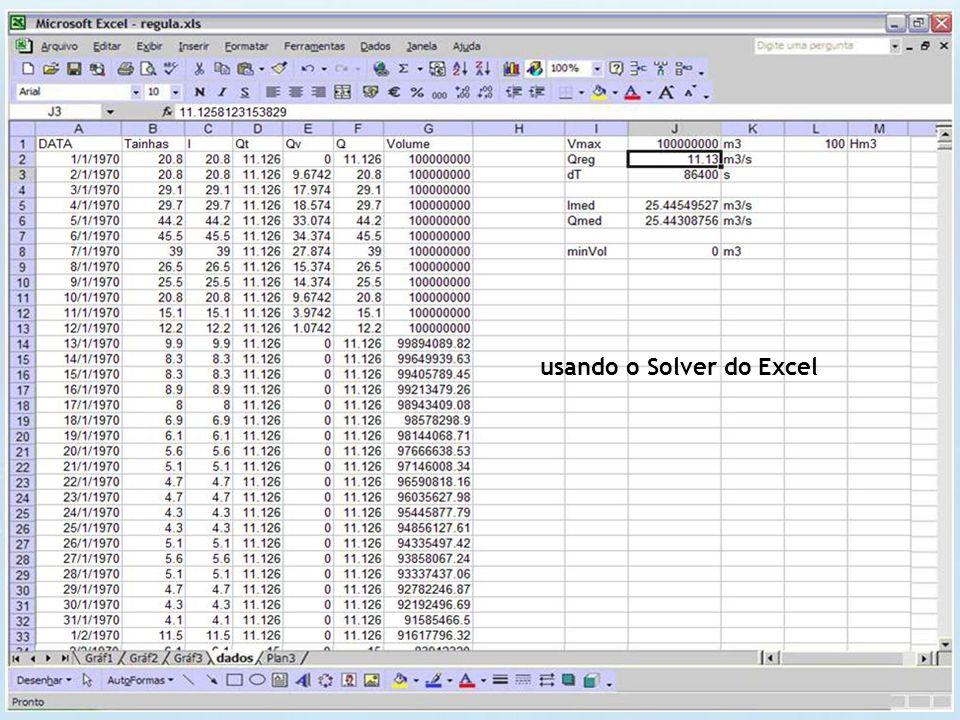 usando o Solver do Excel
