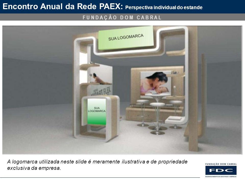 F U N D A Ç Ã O D O M C A B R A L Encontro Anual da Rede PAEX: Perspectiva individual do estande A logomarca utilizada neste slide é meramente ilustra
