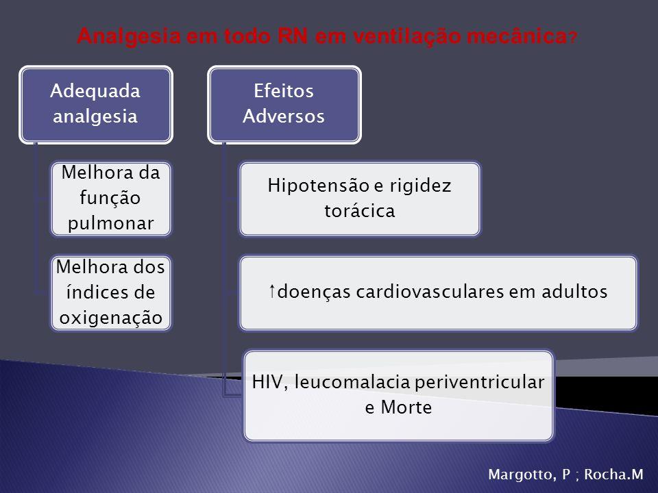 Margotto, P ; Rocha.M Adequada analgesia Melhora da função pulmonar Melhora dos índices de oxigenação Efeitos Adversos Hipotensão e rigidez torácica d