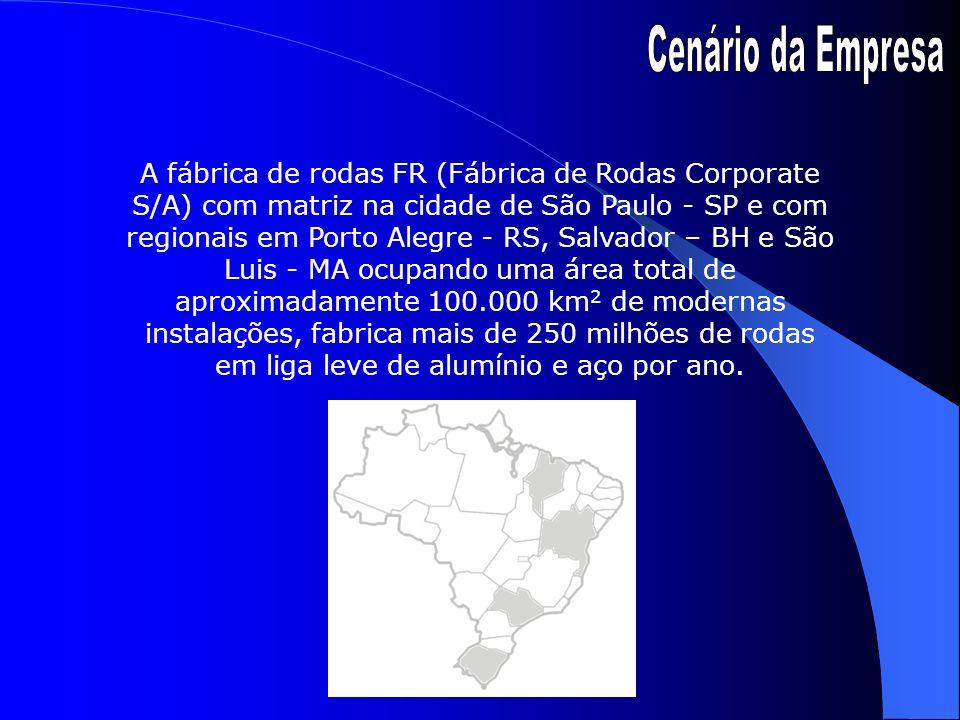 A fábrica de rodas FR (Fábrica de Rodas Corporate S/A) com matriz na cidade de São Paulo - SP e com regionais em Porto Alegre - RS, Salvador – BH e Sã