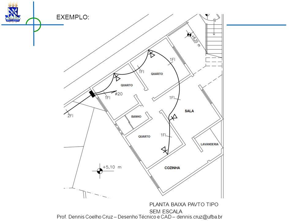 Prof. Dennis Coelho Cruz – Desenho Técnico e CAD – dennis.cruz@ufba.br PLANTA BAIXA PAVTO TIPO SEM ESCALA EXEMPLO: