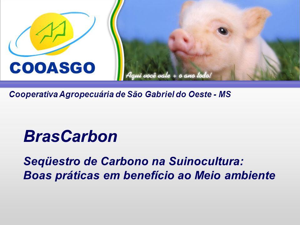 Seqüestro de Carbono na Suinocultura: Boas práticas em benefício ao Meio ambiente BrasCarbon Cooperativa Agropecuária de São Gabriel do Oeste - MS