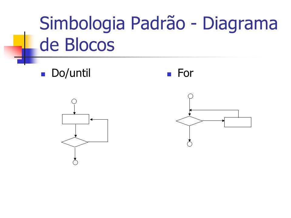 Simbologia Padrão - Diagrama de Blocos Do/until For