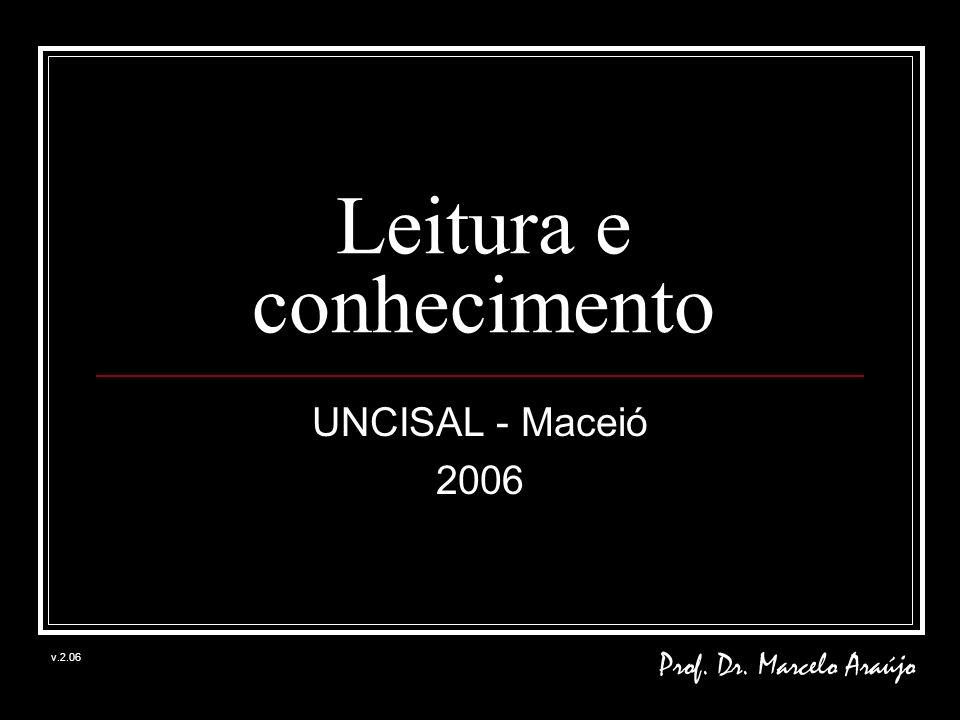 Leitura e conhecimento UNCISAL - Maceió 2006 Prof. Dr. Marcelo Araújo v.2.06