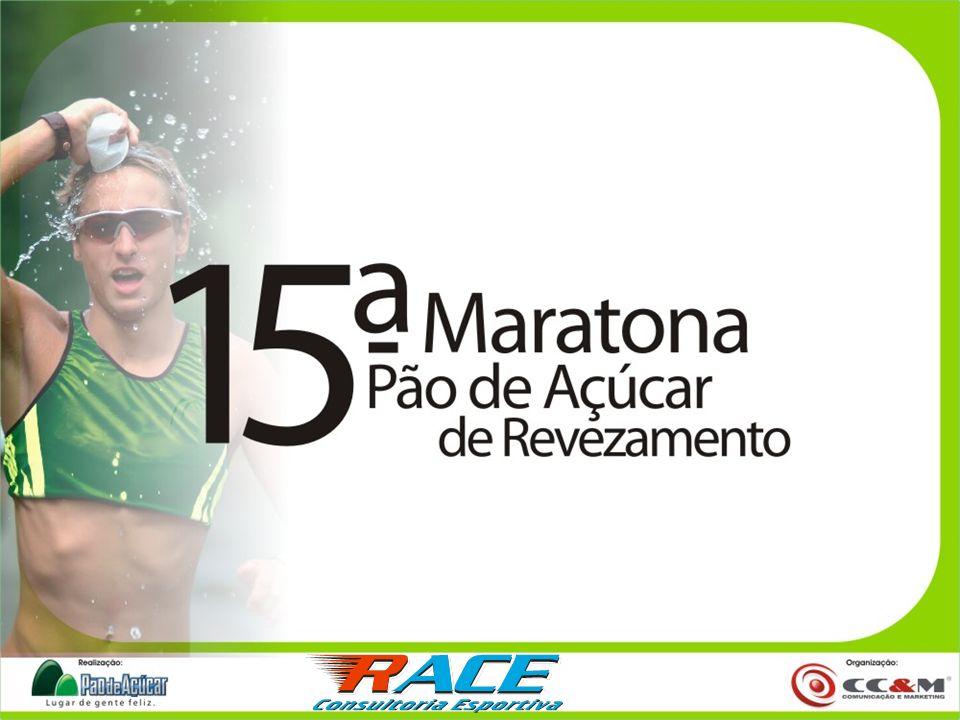 DADOS DO EVENTO 15ª Maratona Pão de Açúcar de Revezamento de São Paulo Data - 23 de setembro de 2007 Local - Parque do Ibirapuera 6h45 - Chamada para a largada 7h - Largada 10h45 - Cerimônia de Premiação 12h - Término do Evento 25 mil Participantes
