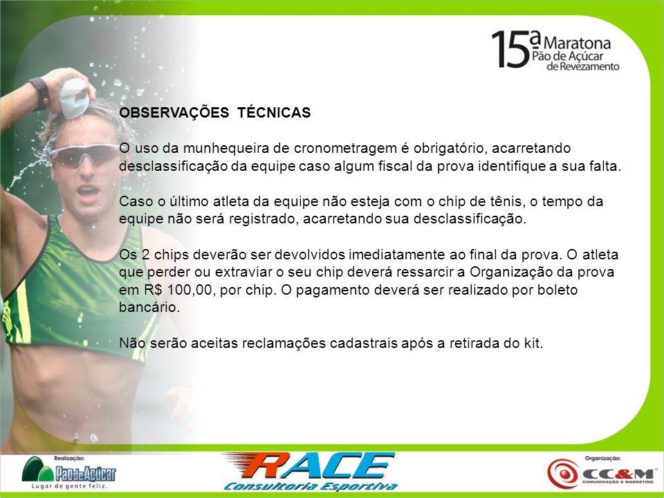 INFRA ESTRUTURA NA TENDA RACE: Guarda Volumes Horário : 6:00 às 12:15 horas Local: Tenda Race Massagem!!.