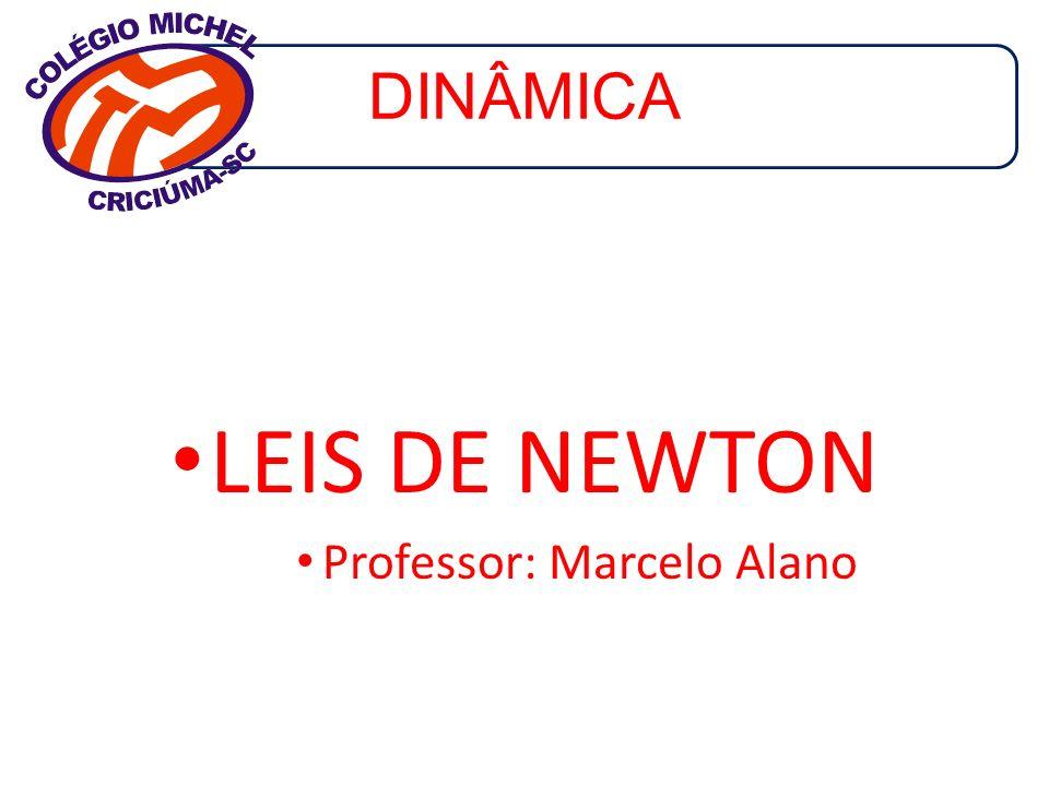 DINÂMICA LEIS DE NEWTON Professor: Marcelo Alano