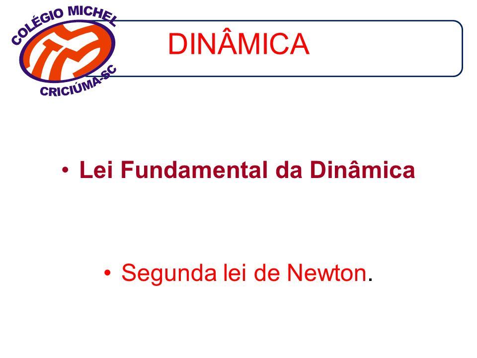 DINÂMICA Lei Fundamental da Dinâmica Segunda lei de Newton.