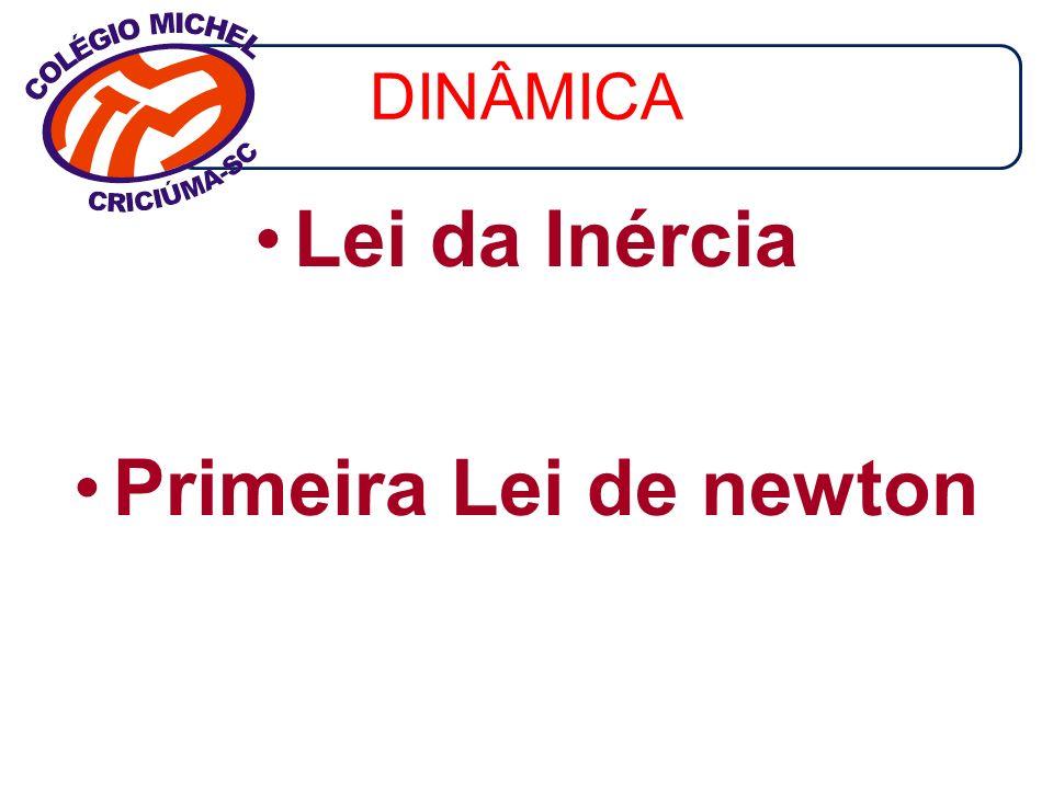 DINÂMICA Lei da Inércia Primeira Lei de newton