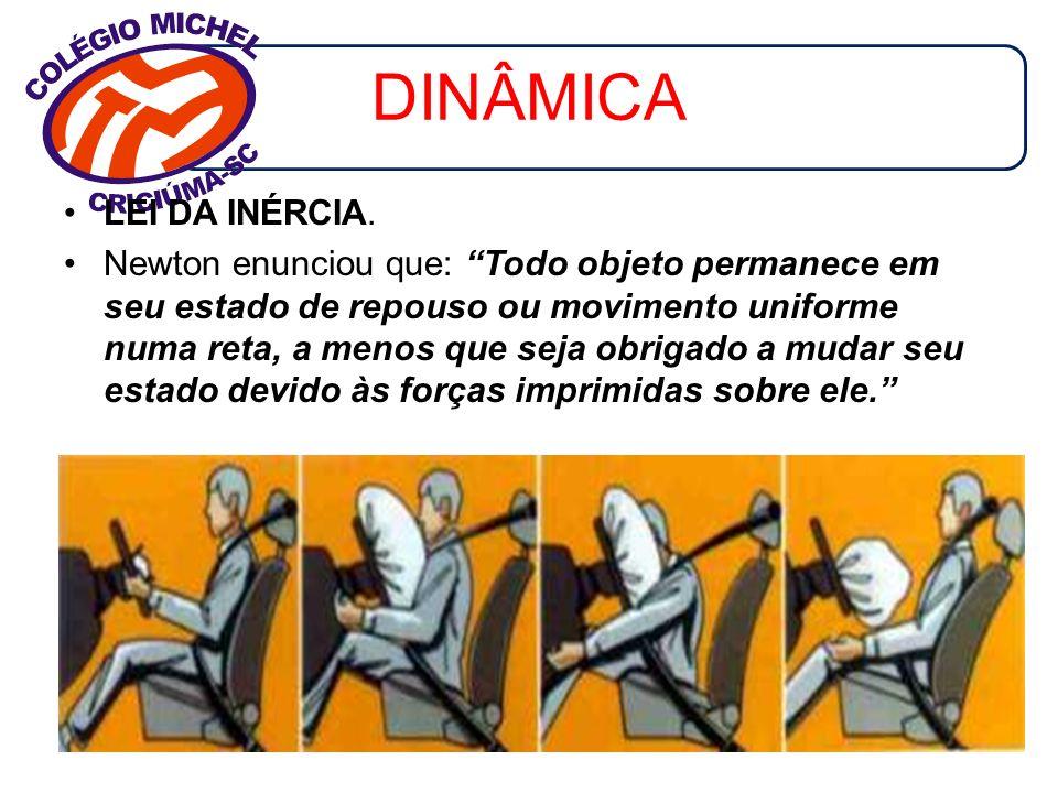 DINÂMICA -Como força é uma grandeza vetorial, para encontrarmos a força resultante é necessário fazer uma soma vetorial.