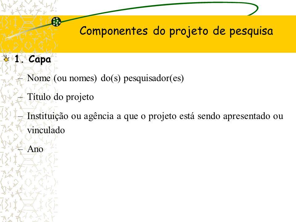 9 - Formatação O Projeto deverá ser apresentado em papel branco, tamanho A4 (219 x 297mm) e todas as páginas do trabalho devem ser da mesma medida.