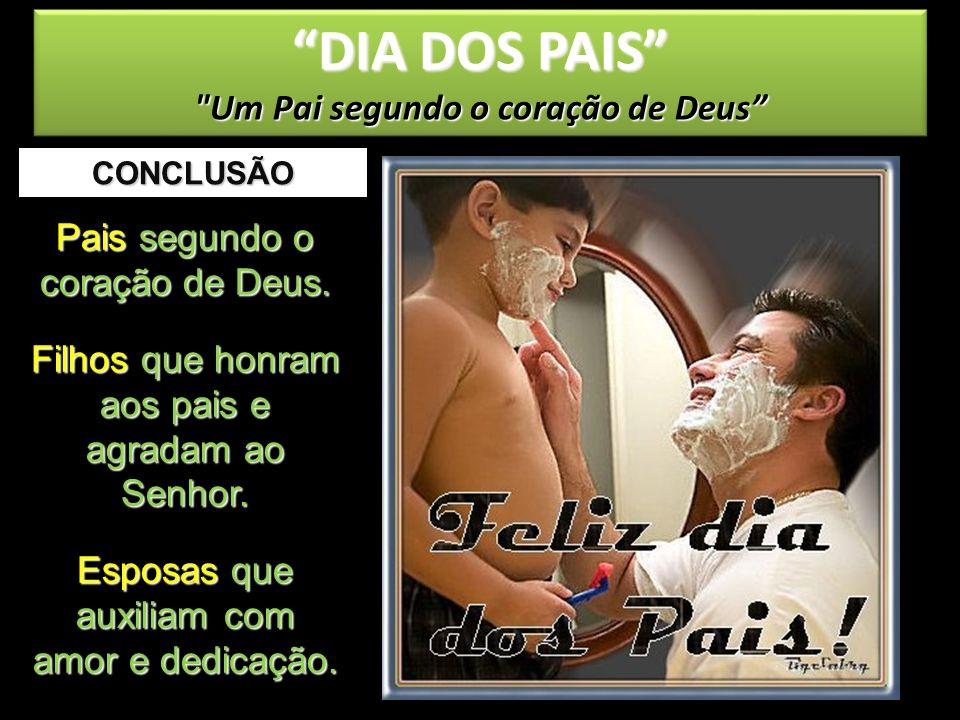 CONCLUSÃO DIA DOS PAIS