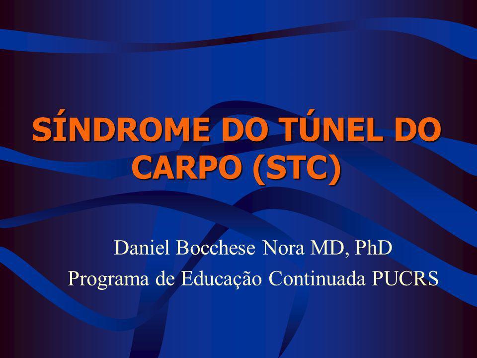 SÍNDROME DO TÚNEL DO CARPO (STC) Daniel Bocchese Nora MD, PhD Programa de Educação Continuada PUCRS