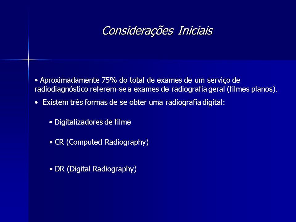 Radiologia Digital - DR PROCEDIMENTO PARA OBTENÇÃO DA IMAGEM: 1.