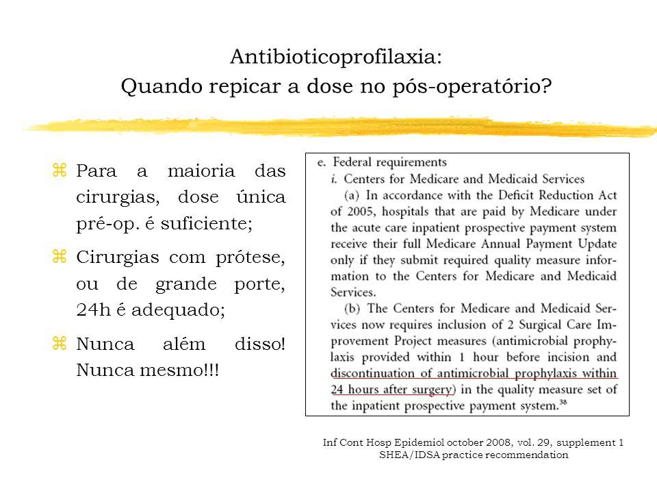 Antibioticoprofilaxia: Quando repicar a dose no pós-operatório?