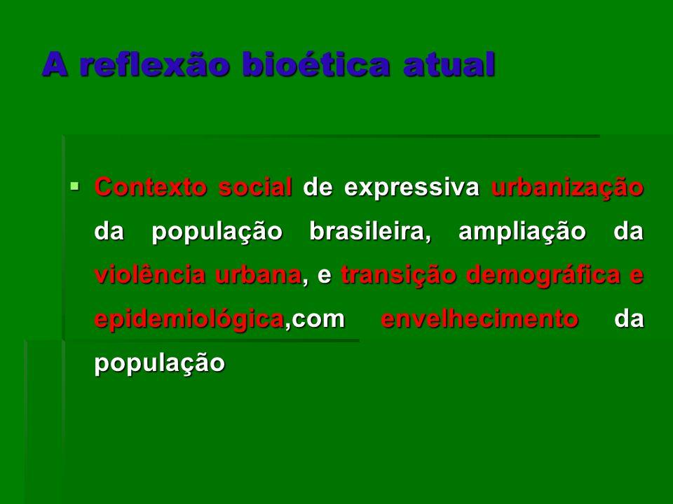 Contexto social de expressiva urbanização da população brasileira, ampliação da violência urbana, e transição demográfica e epidemiológica,com envelhe