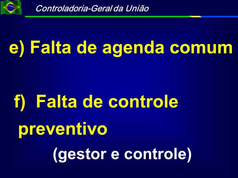 Controladoria-Geral da União g) Processo de contas anual h) Excesso de recomendações