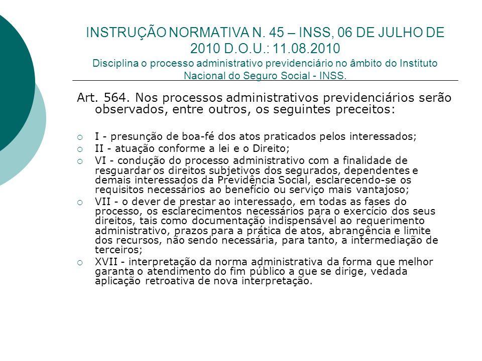 INSTRUÇÃO NORMATIVA N.