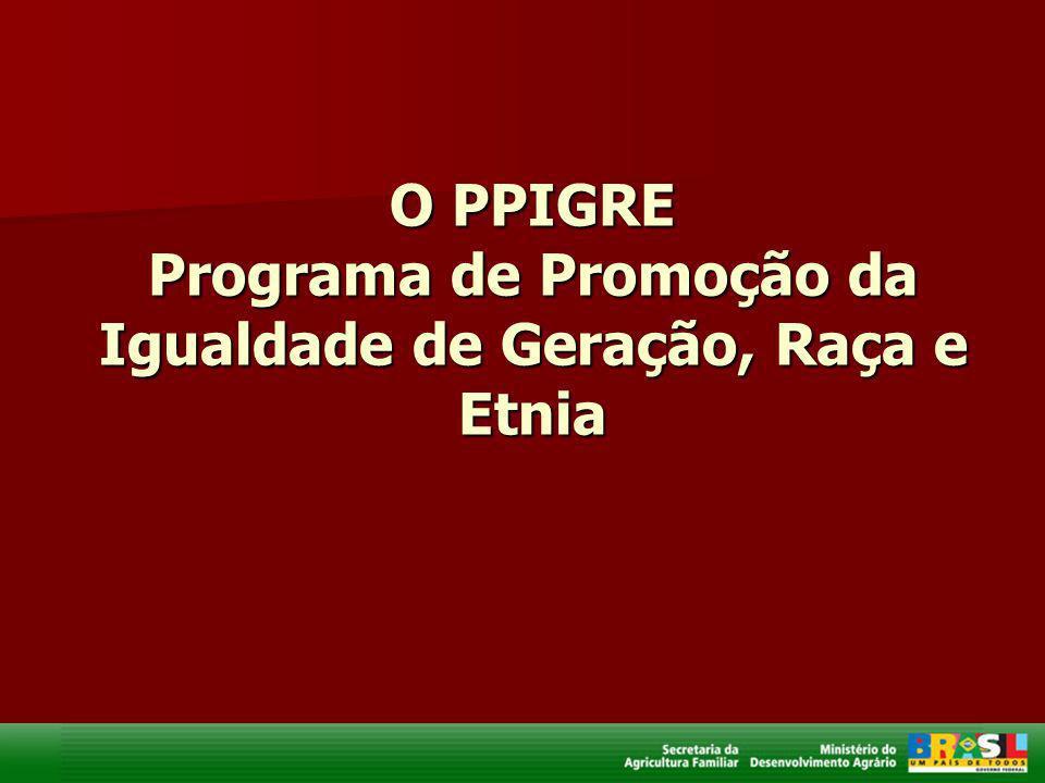 O PPIGRE Programa de Promoção da Igualdade de Geração, Raça e Etnia
