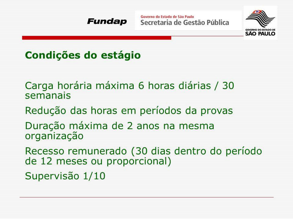 PROGRAMA DE ESTÁGIOS DO GOVERNO DO ESTADO