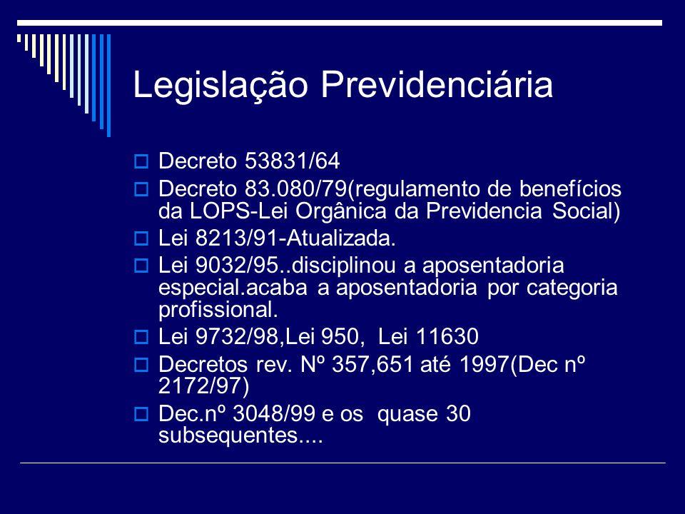 Perícia previdenciária Os benefícios são catalogados por siglas numéricas para fins de processamento: Auxílio-doença previdenciário=B31 ou E 31.