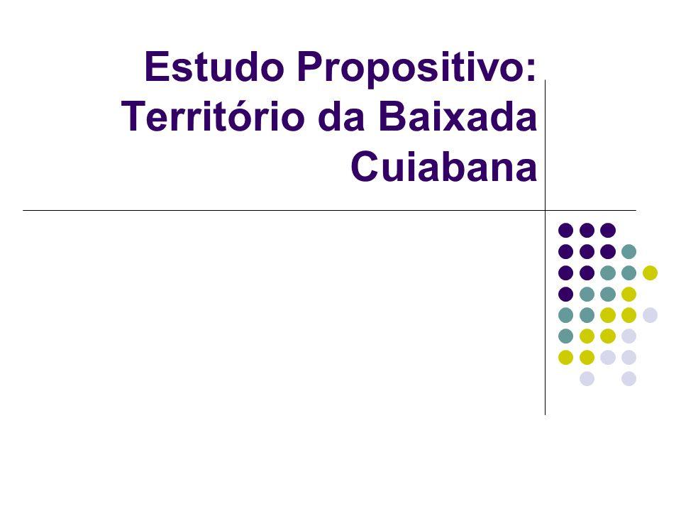 Estudo Propositivo: Território da Baixada Cuiabana