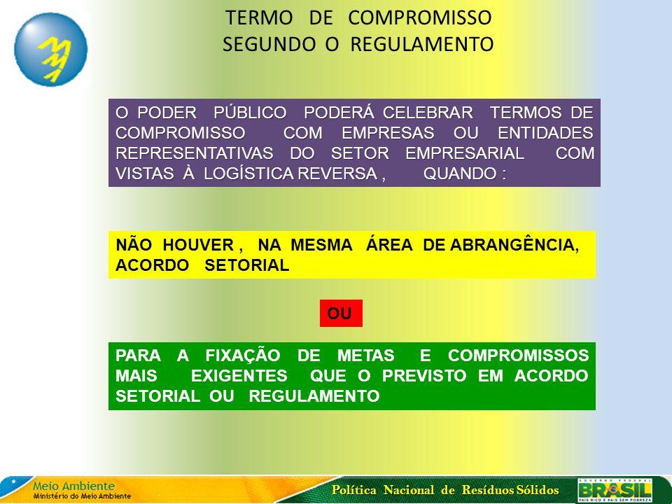 Política Nacional de Resíduos Sólidos Criação de GT s Temáticos (5 Grupos) Objetivo: Elaborar proposta de modelagem de L.R.