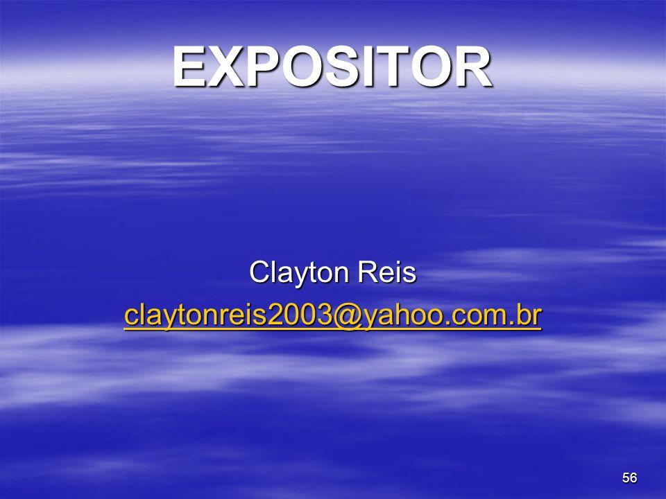 56 EXPOSITOR Clayton Reis claytonreis2003@yahoo.com.br