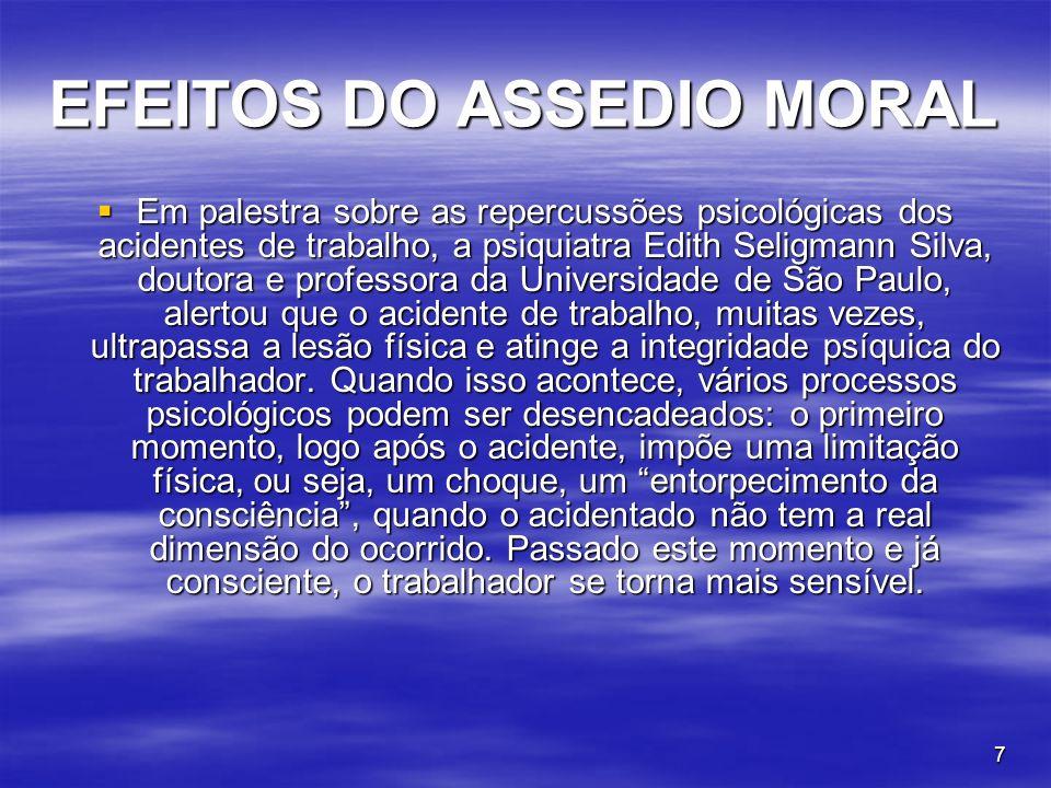 48 EFEITOS DO ASSÉDIO MORAL.