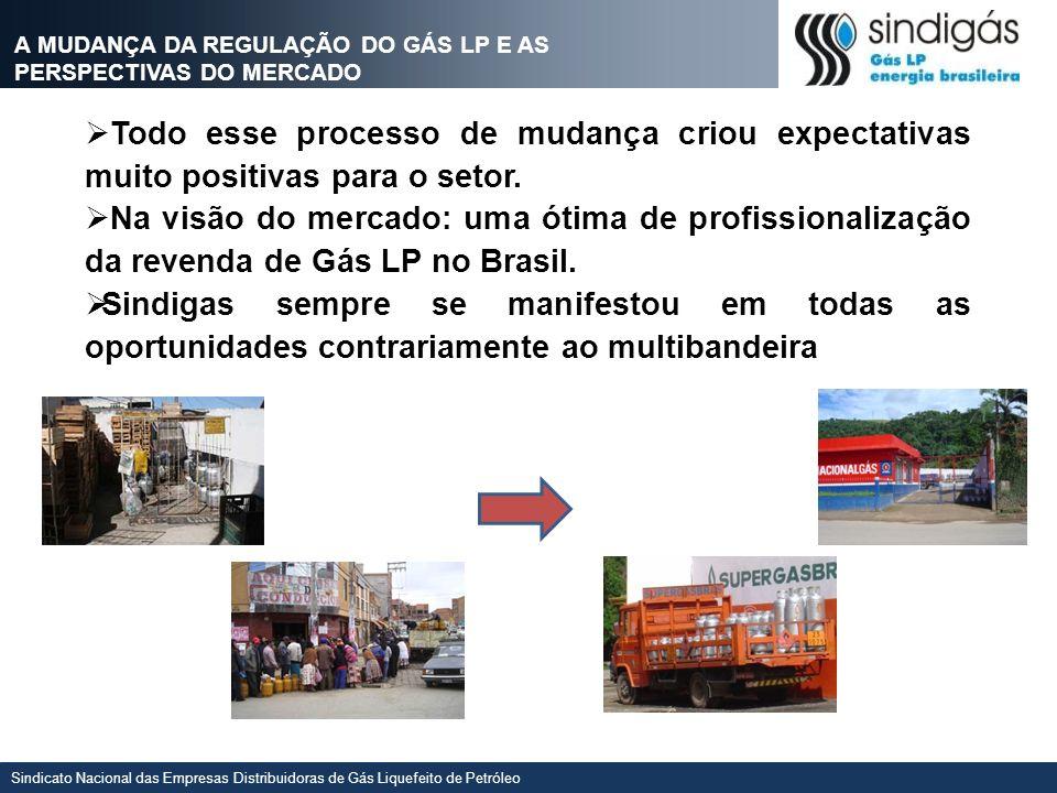 Sindicato Nacional das Empresas Distribuidoras de Gás Liquefeito de Petróleo Todo esse processo de mudança criou expectativas muito positivas para o s