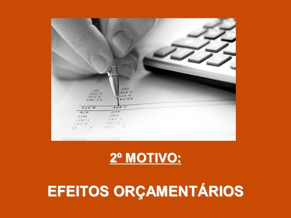 2º MOTIVO: EFEITOS ORÇAMENTÁRIOS