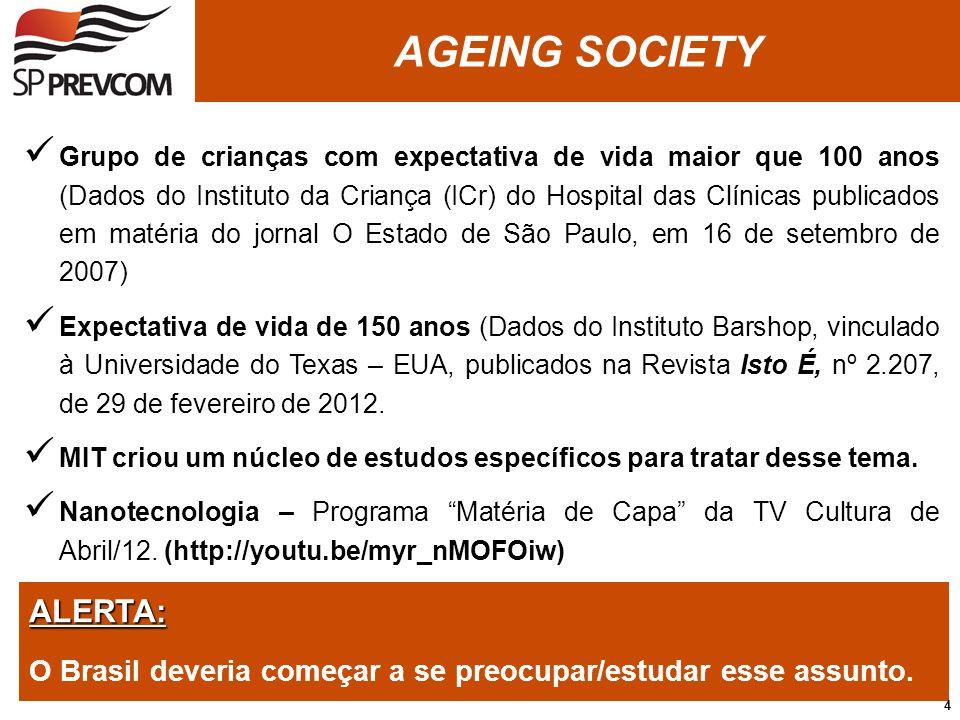 ALERTA: O Brasil deveria começar a se preocupar/estudar esse assunto. Grupo de crianças com expectativa de vida maior que 100 anos (Dados do Instituto