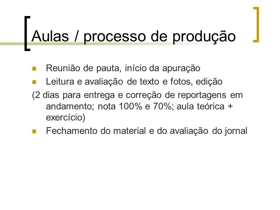 Produção: Produção de material de apoio todos os dias na redação.