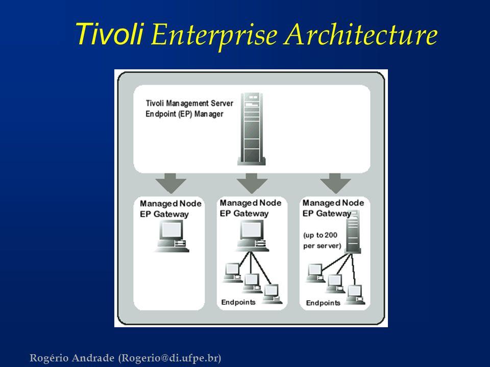 Rogério Andrade (Rogerio@di.ufpe.br) Tivoli Enterprise Architecture
