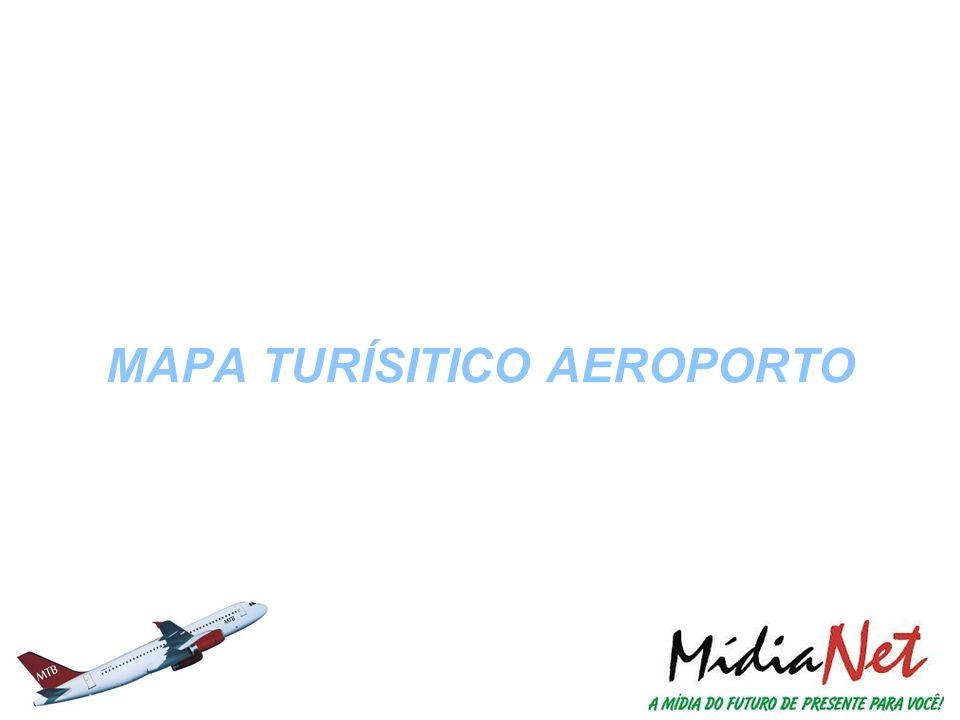 O MAPA TURISTICO AEROPORTO é o resultado de uma pesquisa intensa voltada Exclusivamente ao seu público-alvo: o Passageiro Aéreo.