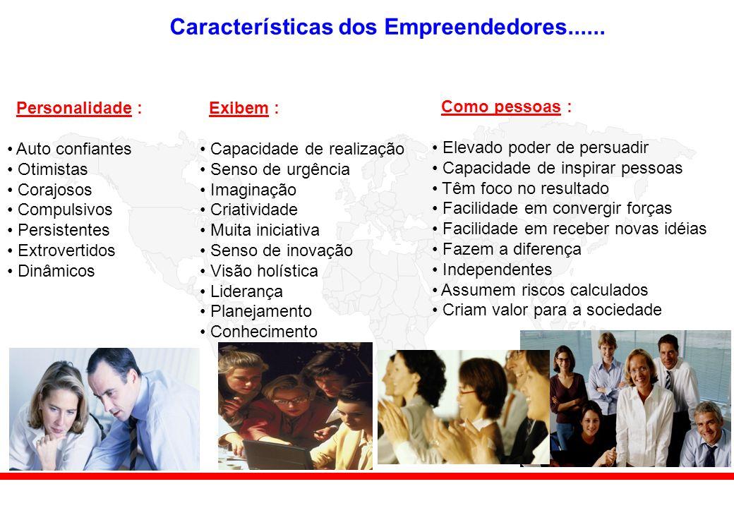 Características dos Empreendedores......