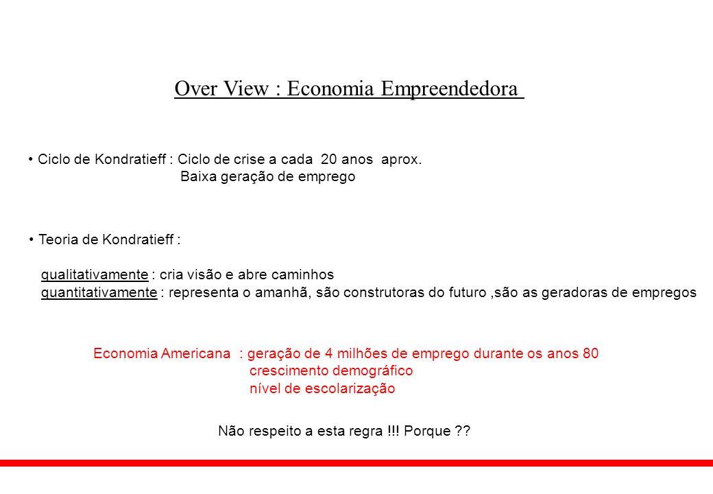 Over View : Economia Empreendedora De onde vieram estes empregos .