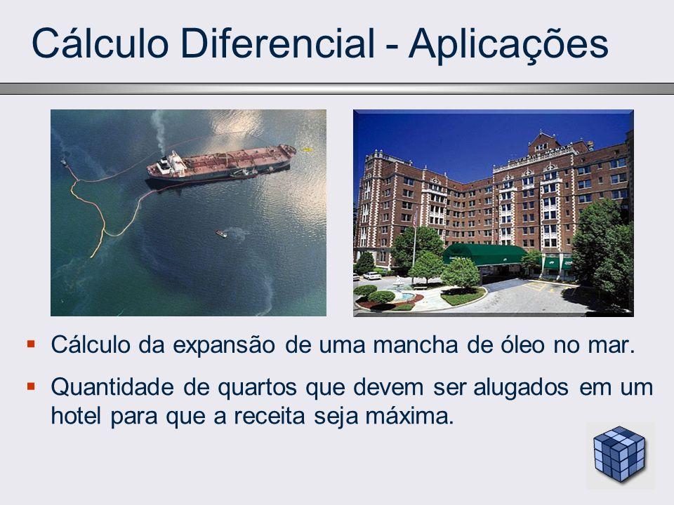 Cálculo Diferencial - Aplicações Cálculo da expansão de uma mancha de óleo no mar. Quantidade de quartos que devem ser alugados em um hotel para que a