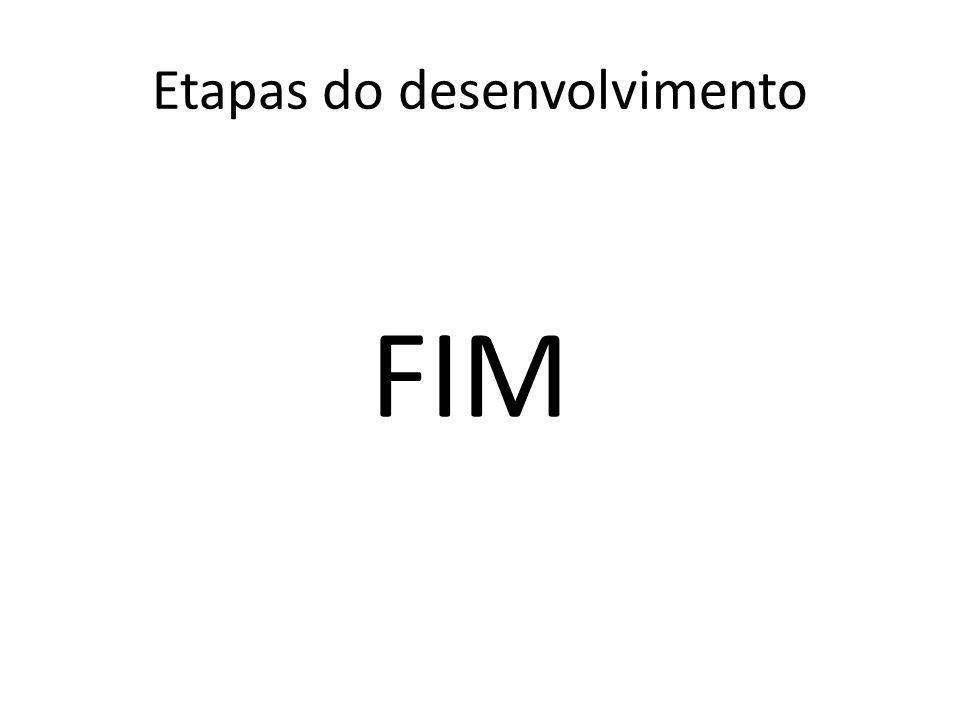 FIM Etapas do desenvolvimento