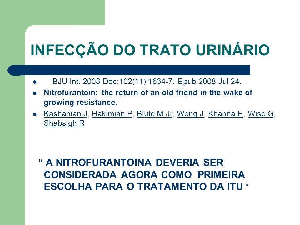 BJU Int. 2008 Dec;102(11):1634-7. Epub 2008 Jul 24. Nitrofurantoin: the return of an old friend in the wake of growing resistance. Kashanian J, Hakimi
