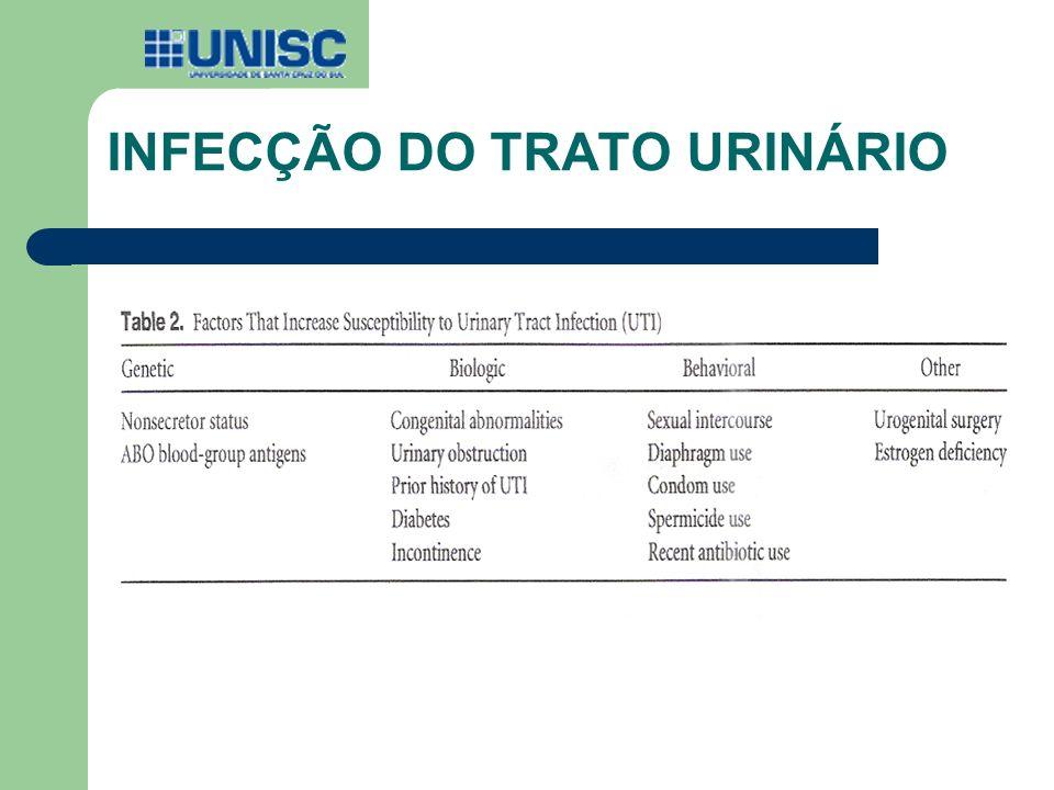INFECÇÃO DO TRATO URINÁRIO DADOS EPIDEMIOLOGICOS: