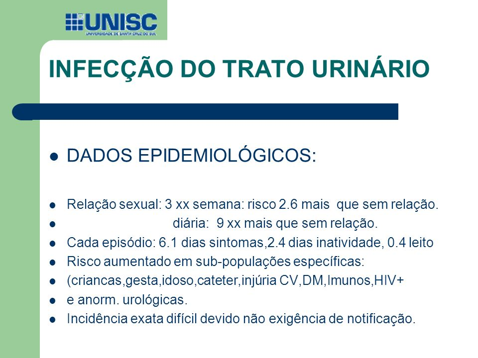 INFECÇÃO DO TRATO URINÁRIO Short-Course Nitrofurantoin for the Treatment of Acute Uncomplicated Cystitis in Women Arch Intern Med.